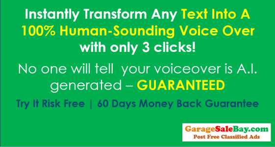 Instantly Transform Any Text Into A 100%Human-SoundingVoice Over
