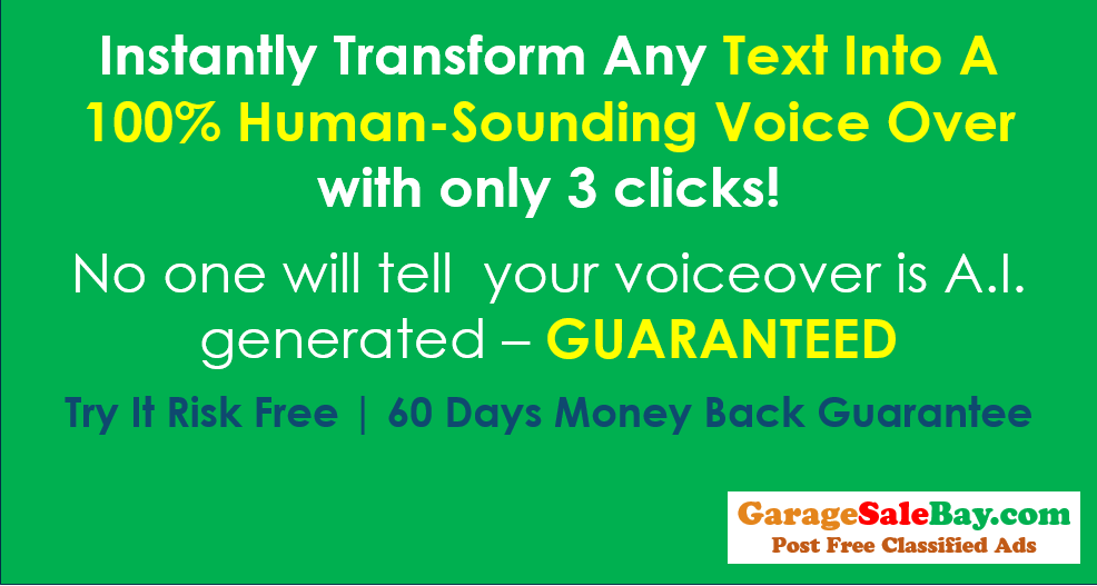 Instantly Transform Any Text Into A 100% Human-Sounding Voice Over